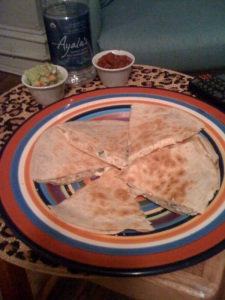 Full Plate of Quesadillas