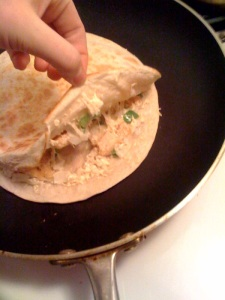 Inside Shot of Quesadilla